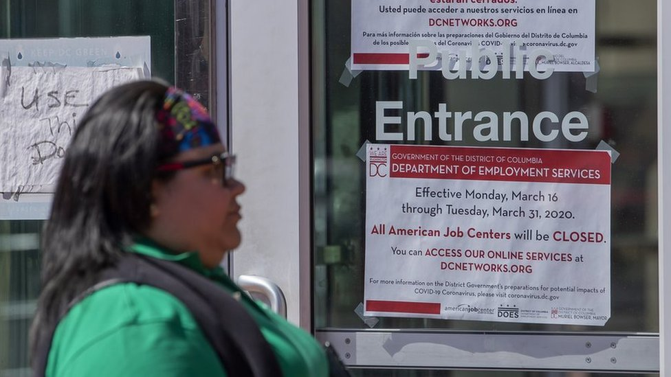 Una oficina de desempleo en EE.UU.
