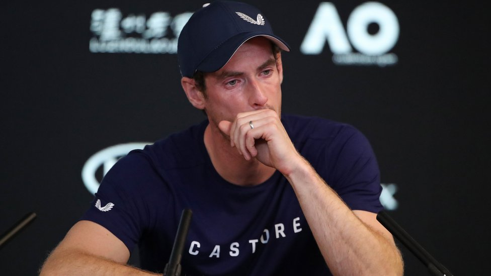 Andy Murray announcing his retirement