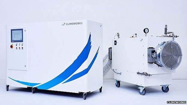 Climeworks CO2 extractor machine