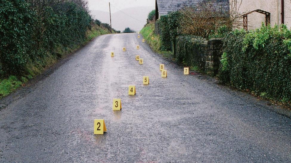The scene of Eamon Collins' murder