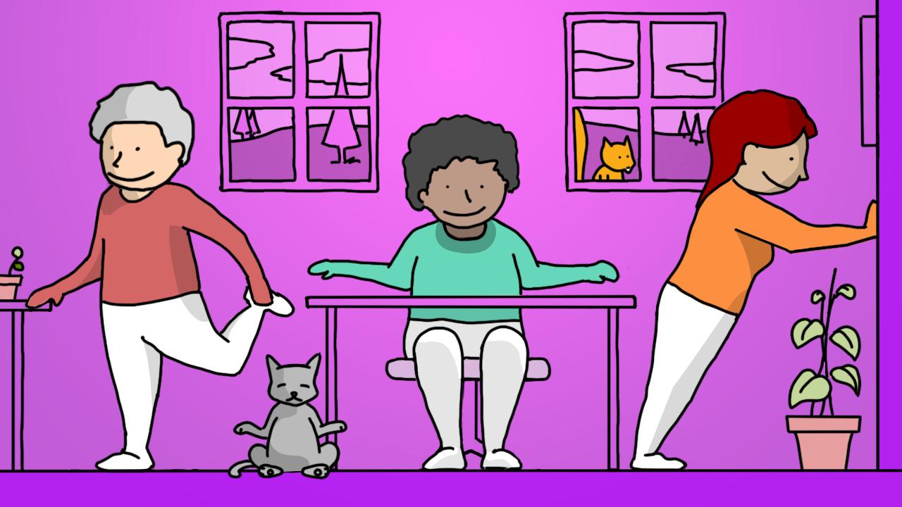 Illustration of desk exercises