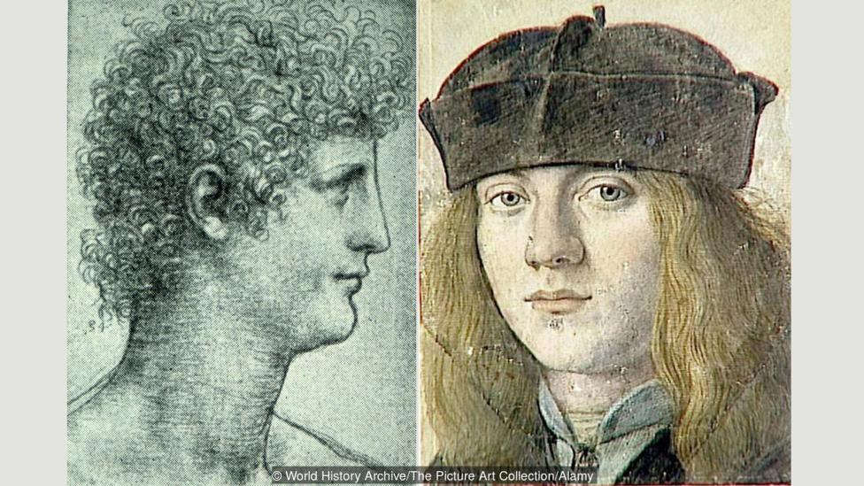 Gian Giacomo Caprotti, conocido como 'Salaí' (izquierda) y Francesco Melzi (derecha)