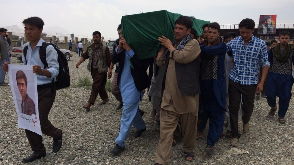 A funeral in Kabul, 24 July
