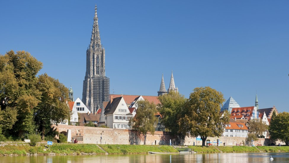 A view of Ulm Minster from the river