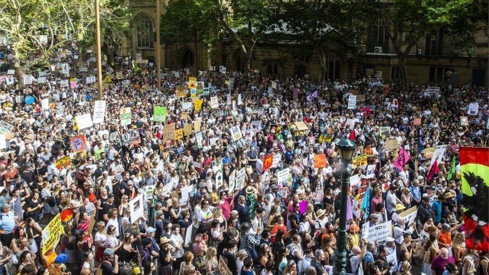 Manifestaciones en Australia.