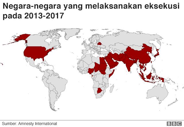 Negara eksekusi mati 2013-2017