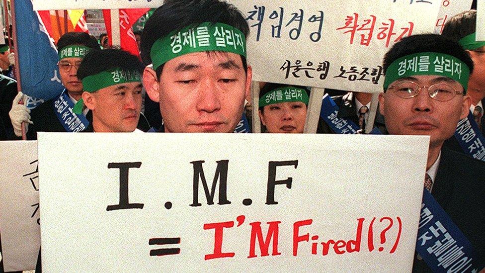 Corea del Sur, Tailandia e Indonesia se acogieron a los programas del FMI.