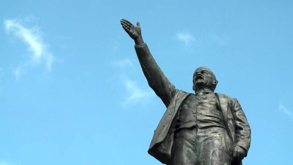 Statue of Lenin in Yegoryevsk