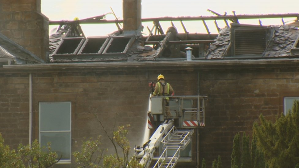 Fire crews fight blaze at Glasgow Golf Club in Bearsden