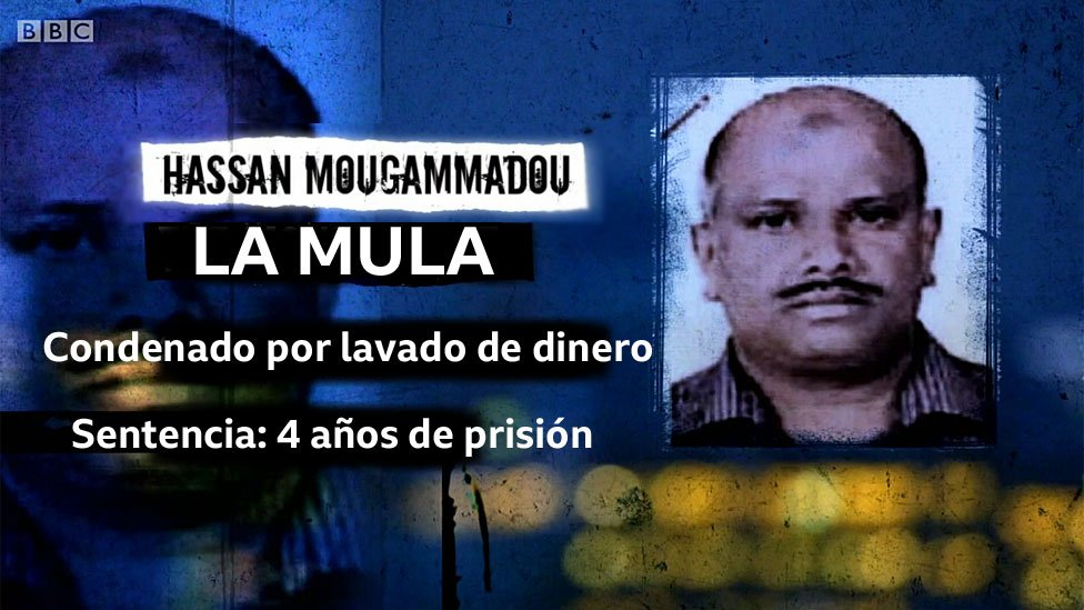 Foto de Hassan Mougammadou con leyenda: La mula; Condenado por lavado de dinero; Sentencia: 4 años de prisión