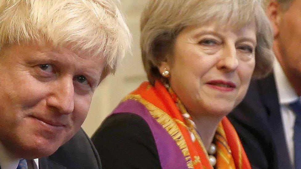 Boris Johnson and Theresa May