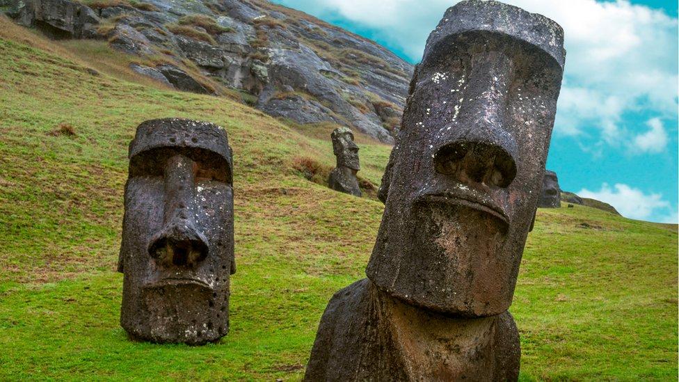 Estatuas de la Isla de Pascua.