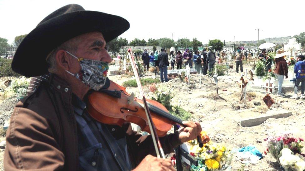 Cementerio en Mexico.