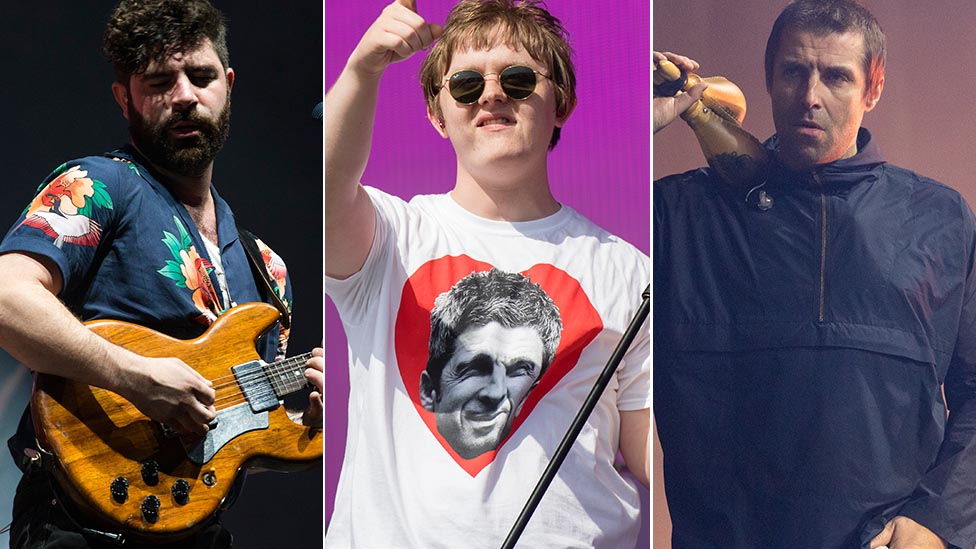 Yannis Philippakis, Lewis Capaldi and Liam Gallagher