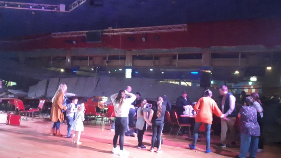Pontins holiday camp ceiling collapse injures at least seven