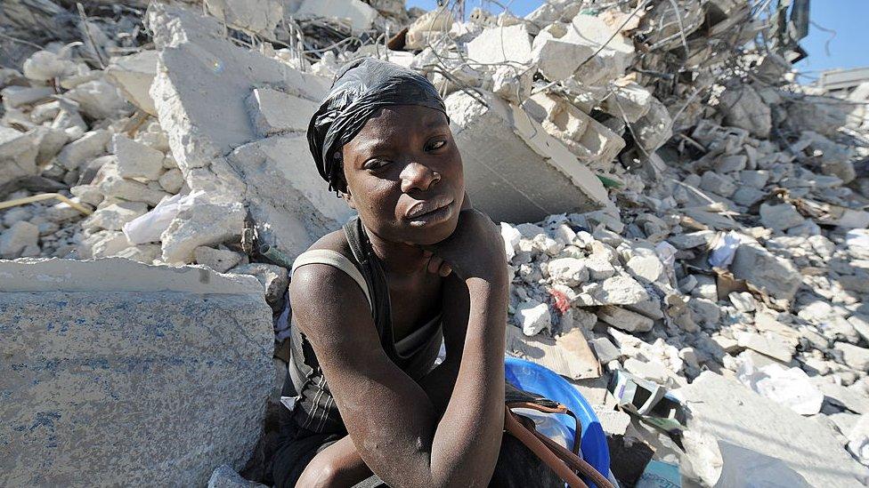 Víctima del terremoto