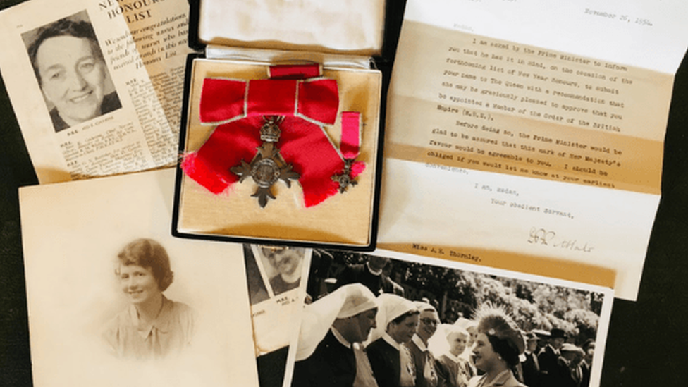 Award archive of Betty Thornley