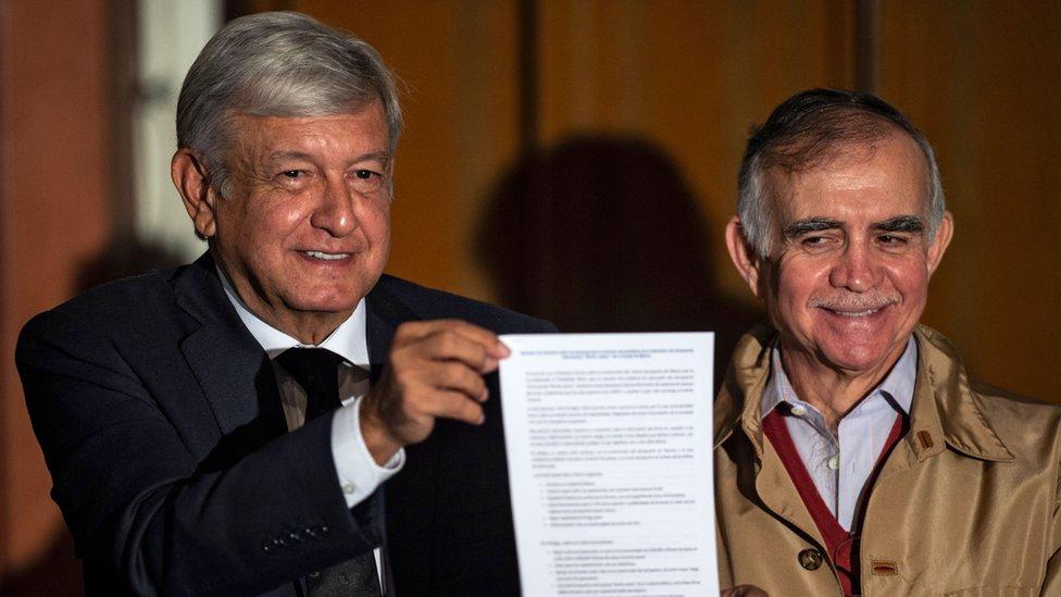 Alfonso Romo y López Obrador