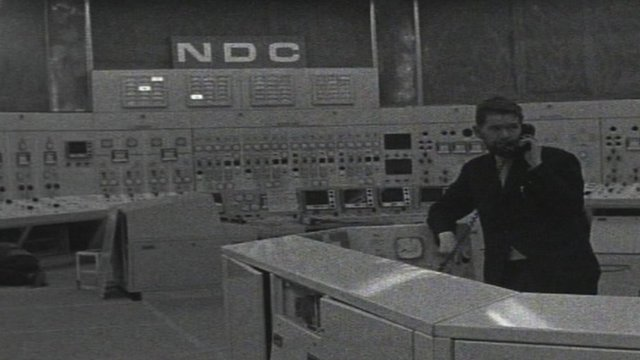 Inside Wylfa control room after construction