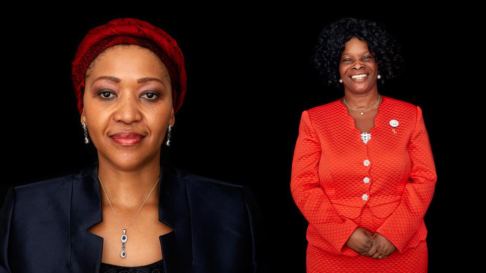 Thobeka Madiba Zuma, First lady of South Africa and Esther Lungu, First Lady of Zambia