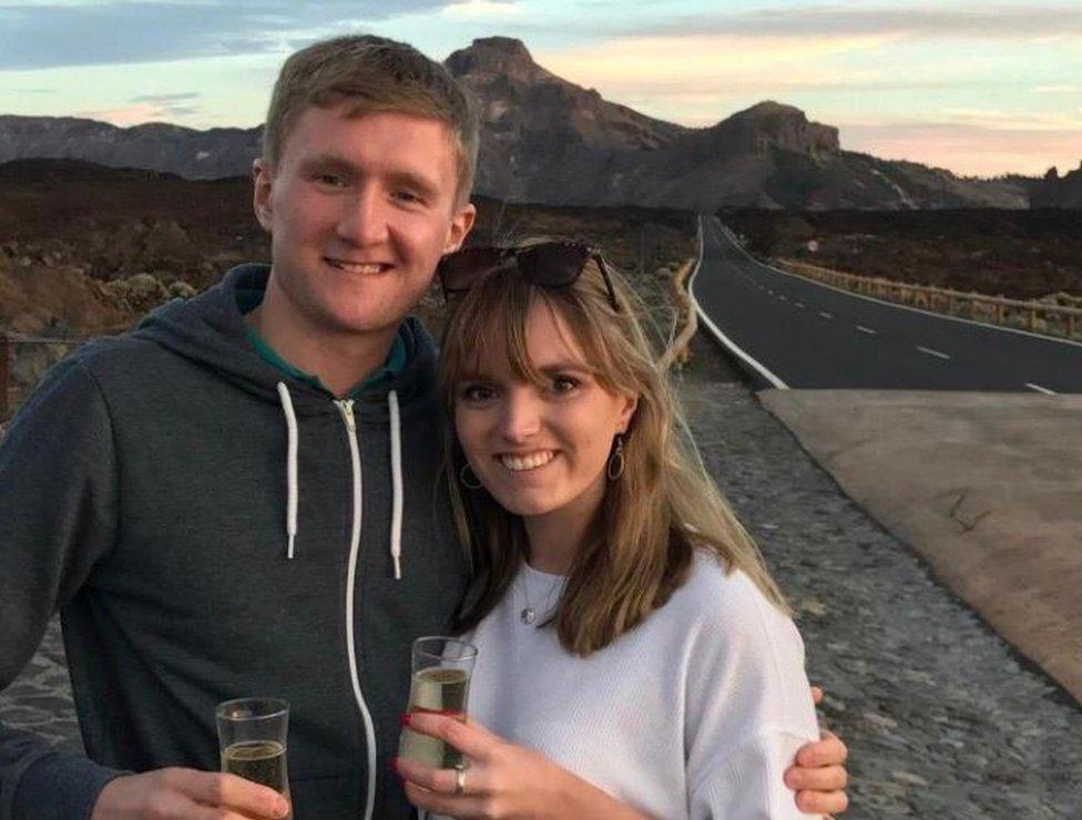 Mathew Talbot et sa petite amie Olivia