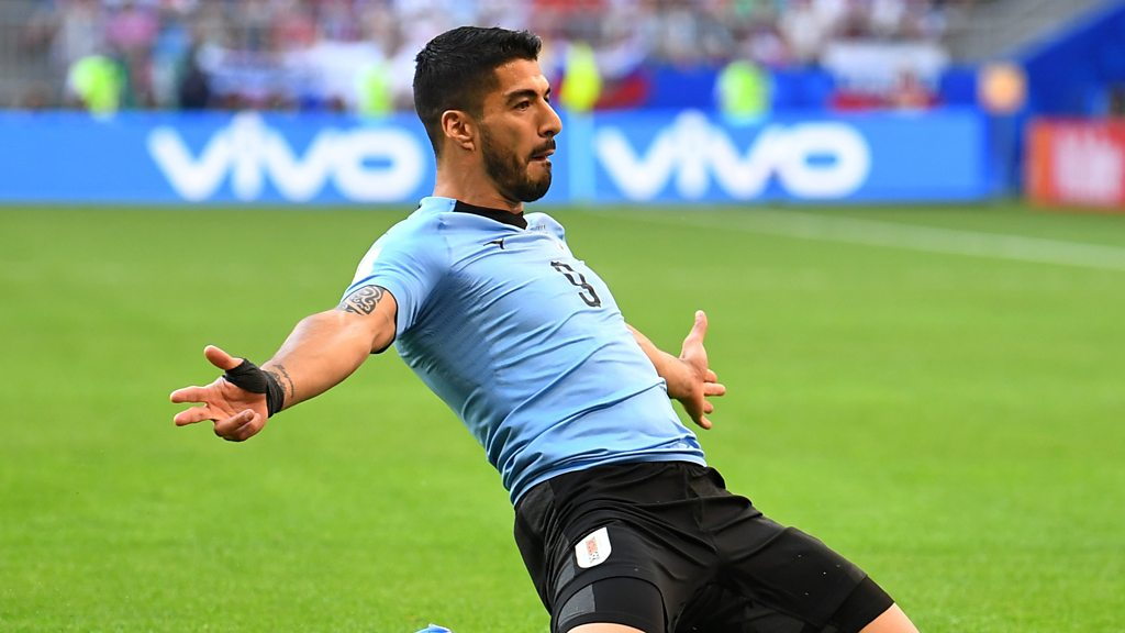World Cup 2018: Luis Suarez gives Uruguay lead against Russia