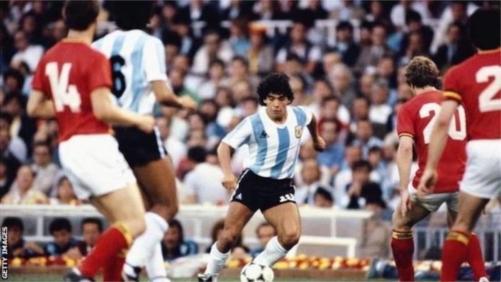Maradona na Copa de 1986