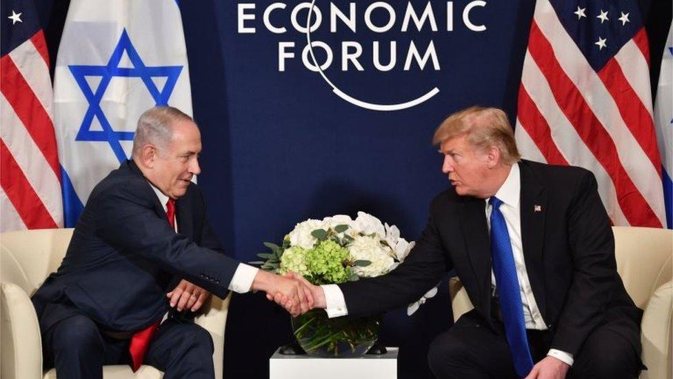 تعتبر الولايات المتحدة برئاسة دونالد ترامب أقرب حليف لاسرائيل ورئيس وزرائها بنيامين نتنياهو