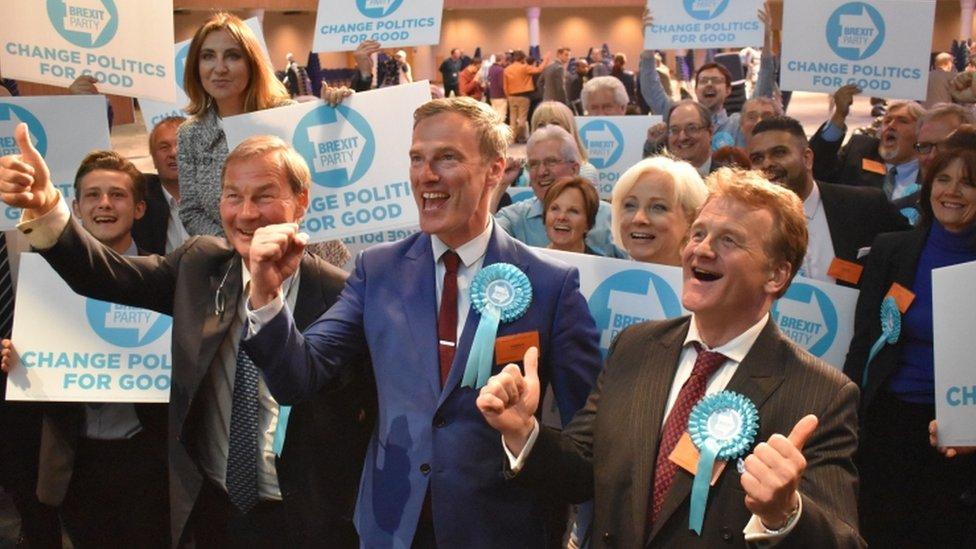 حصل حزب بريكست الذي شُكل حديثا على حوالي 32 في المئة من الأصوات في بريطانيا