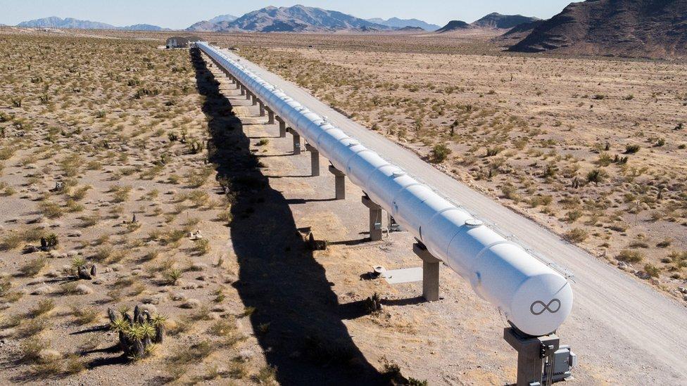 Испытательный трек Virgin Hyperloop в Неваде