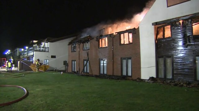 Fire crews tackle major hotel fire