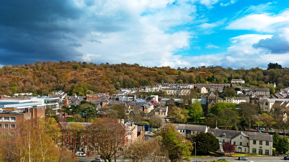City of Bangor, from the terrace of Bangor University Old College