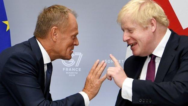 歐洲理事會主席圖斯科與約翰遜