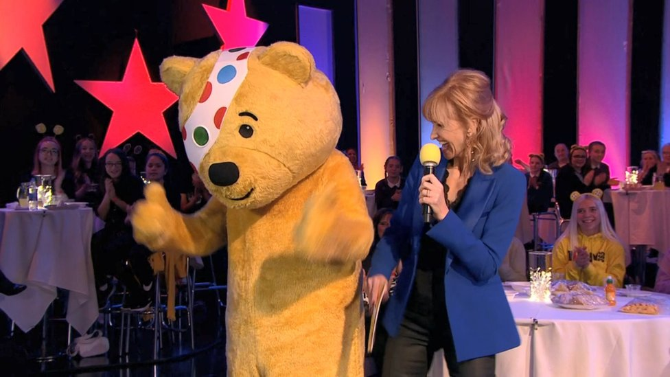 Former news presenter Jackie Bird returned to BBC Scotland to host the Children in Need show