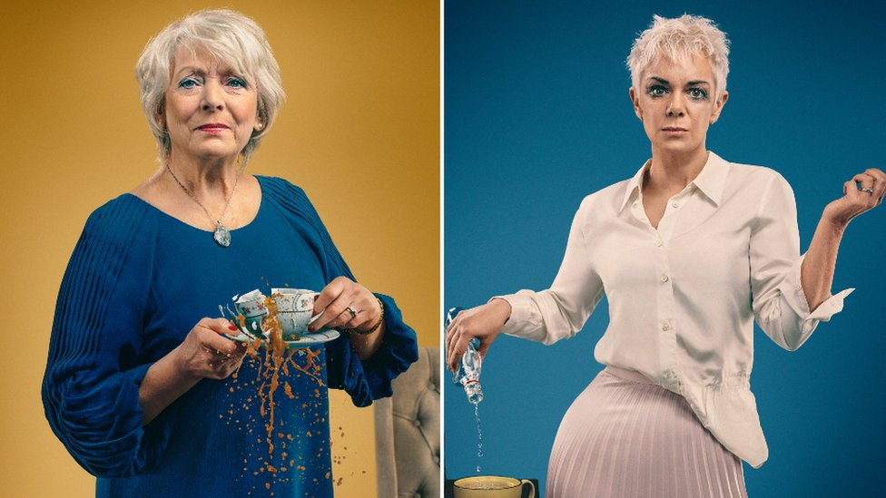 Alison Steadman as Gail and Victoria Hamilton as Belle