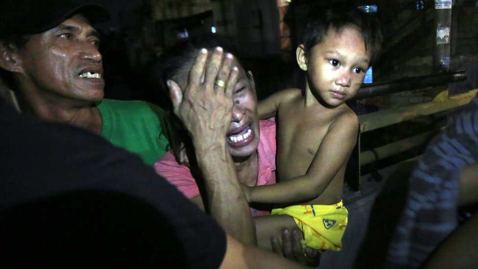 A relative of an alleged drug dealer killed in the Philippines