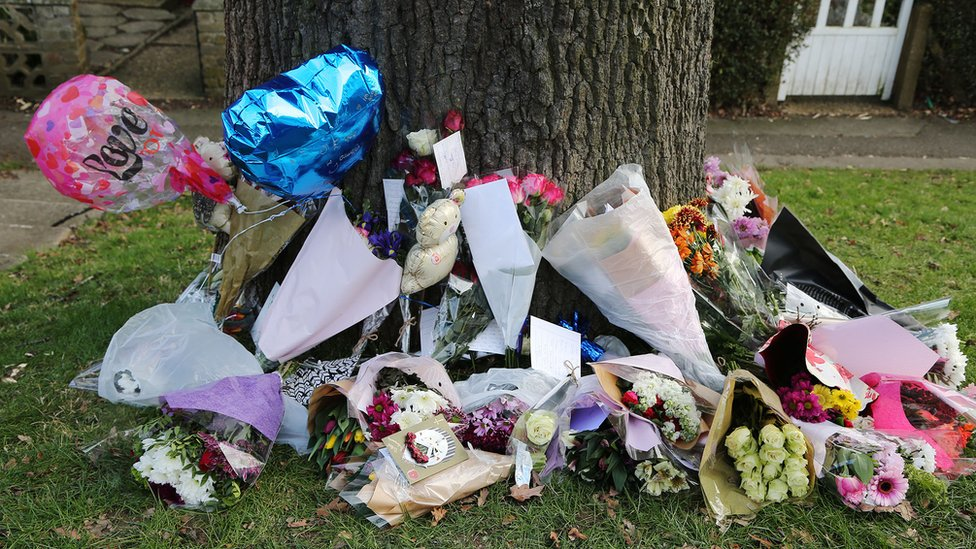 Flowers were left at the scene of Mr Carter's death.