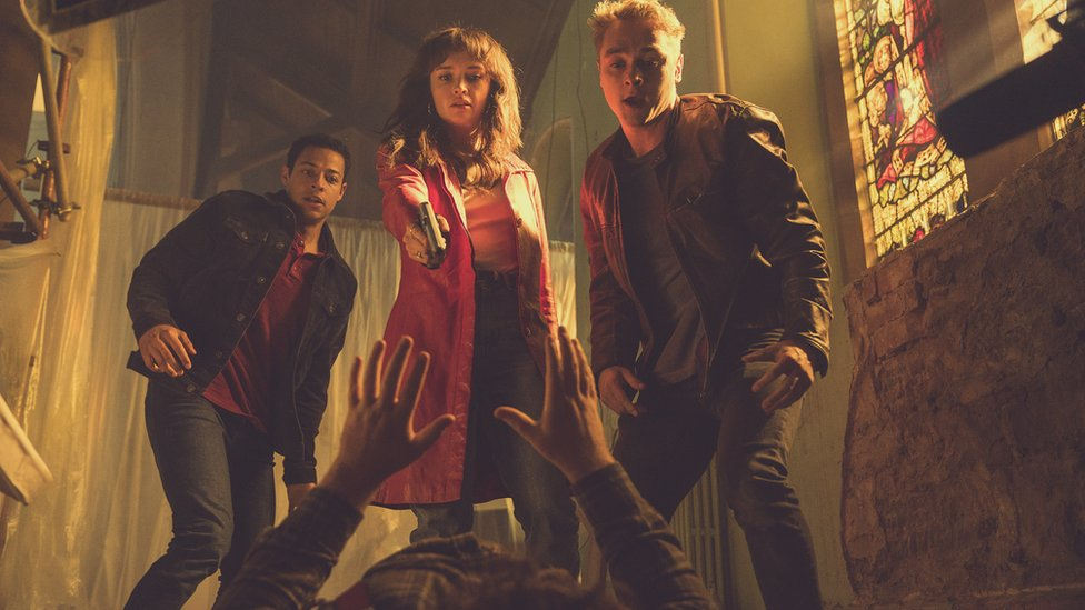 Daryl McCormack, Olivia Cooke and Ben Hardy in Pixie