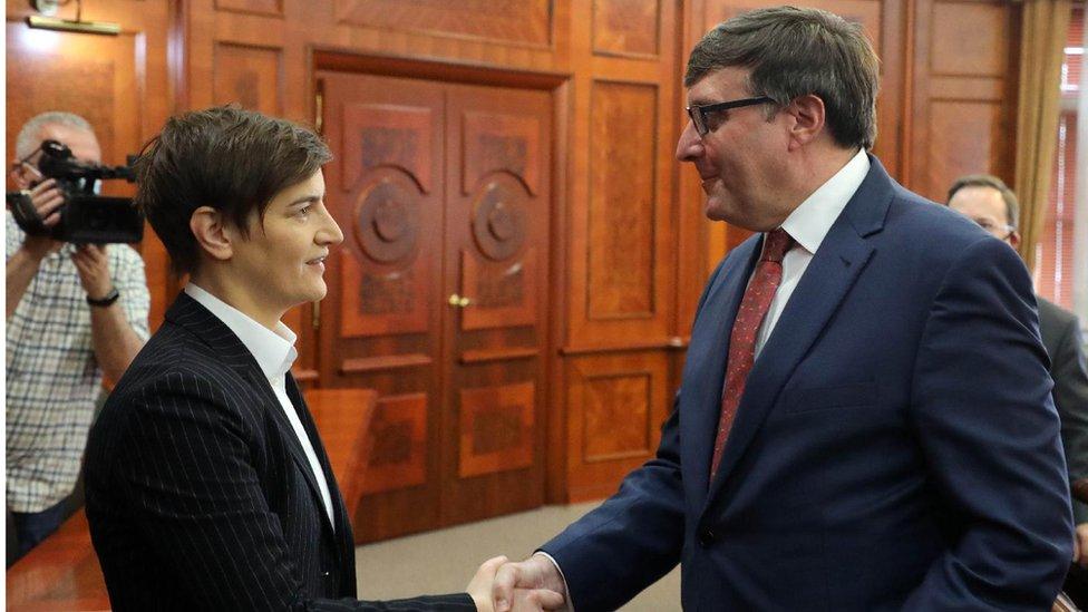 Palmer na sastanku sa premijerkom Srbije Anom Brnabić