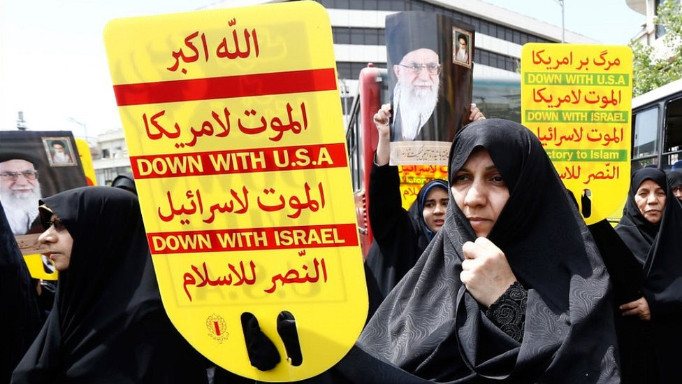 Protest against US and Israel in Tehran, 10 May 19