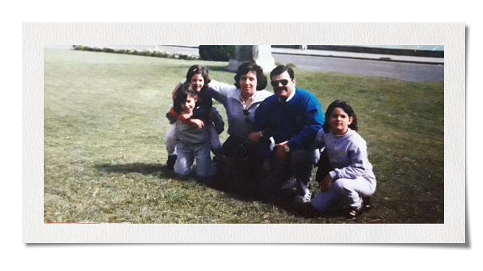 Analía Kalinec with her family on a family trip in the 1980s. Photo courtesy of Analia Kalinec