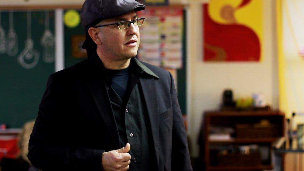 Felipe Ruibal, maestro de escuela en Nuevo México.