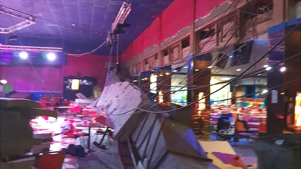 Pontins Brean Sands roof collapse 'like bomb going off'