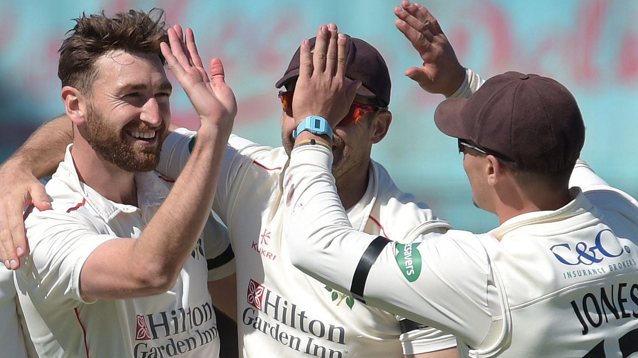 County Championship: Lancashire benefit as 14 wickets fall on day two against Worcs