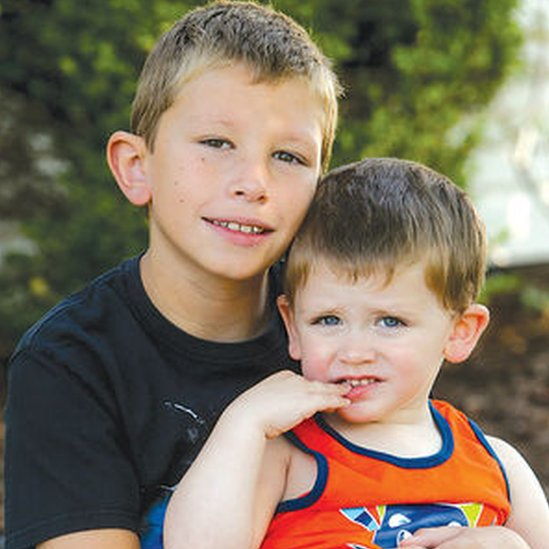 Jacob O'Connor with his brother Dylan