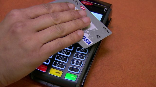 Contactless payment being made