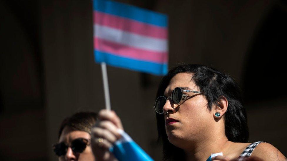 Una protesta por los derechos de las personas transgénero