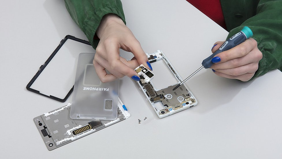 Fairphone being assembled