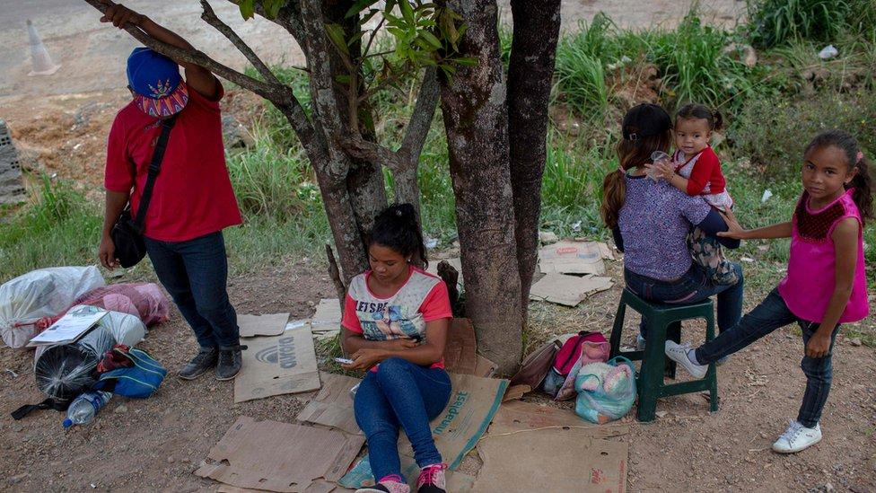 Venezolanos en Pacaraima