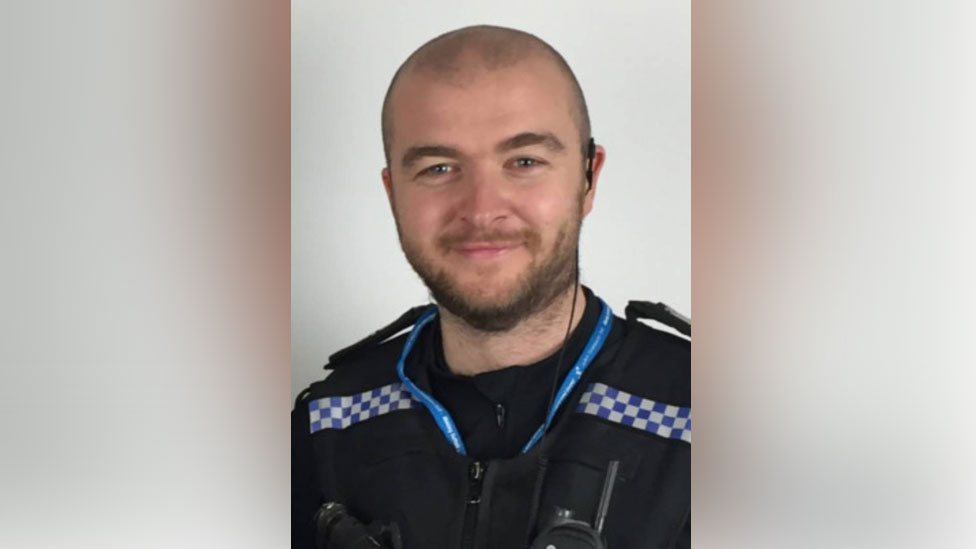 Ali Livingstone when he was a police officer